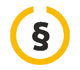 Ein Paragraphenzeichen mit Kreis steht für die Datenschutzerklärung von Inklusion Muss Laut Sein